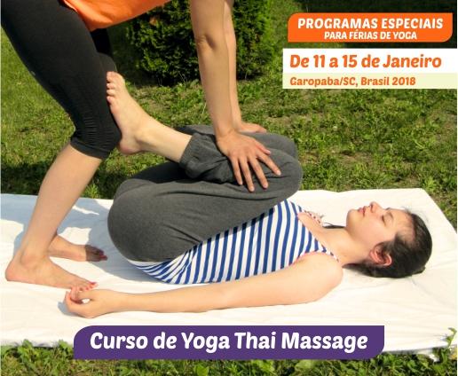 Curso de Yoga Thai Massage - 11 a 15 de Janeiro - Garopaba 2018